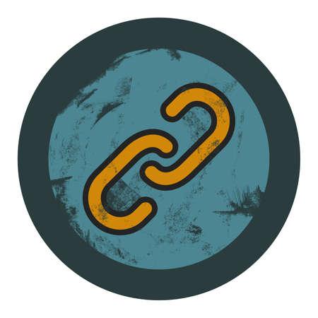 attached: grunge hiperlink icon, graphic design element Illustration