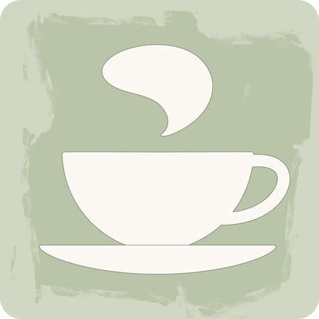 coffee  tea  isolated cup on textured background - vector icon Vector