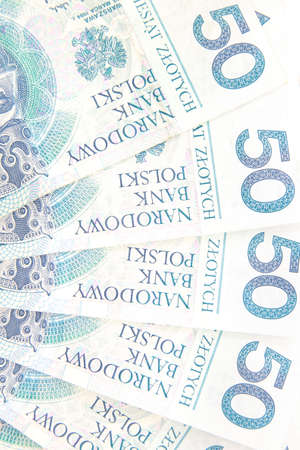50 polish zloty background Stock Photo - 4738510
