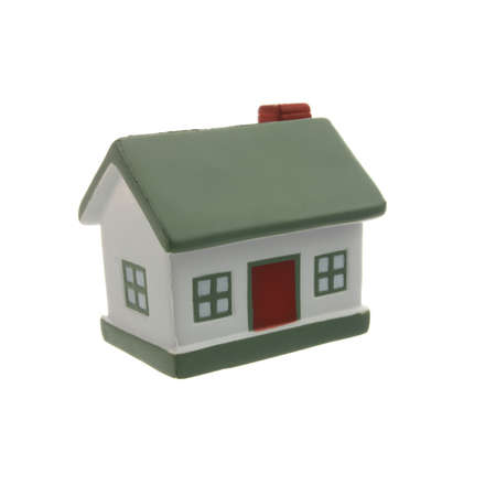 Small house model isolated on white background photo