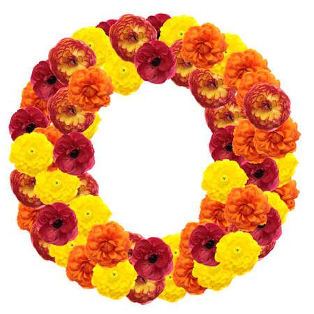 Alphabet of flowers isolated on white background Stock Photo - 4738530