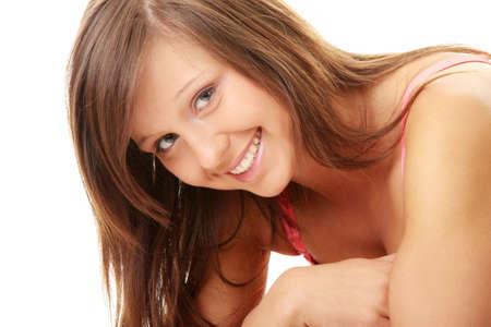 Teen Beach Girl isolated on white background photo