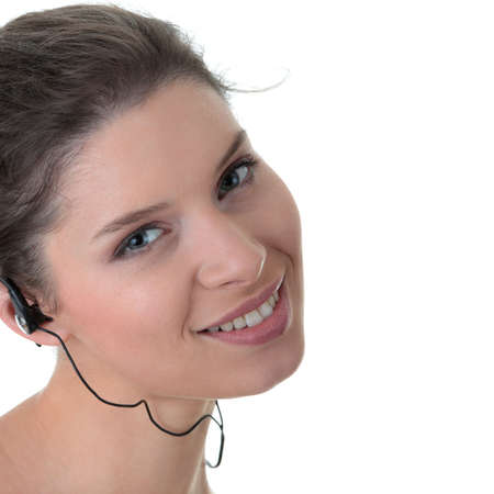 Young fitness woman with sport headphones listening music Stock Photo - 5364520