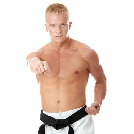 Taekwondo fighter isolated on white background Stock Photo - 5394122