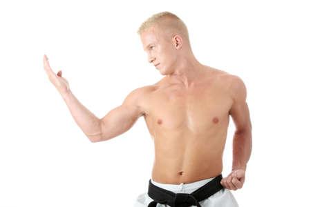 Taekwondo fighter isolated on white background Stock Photo - 5394025