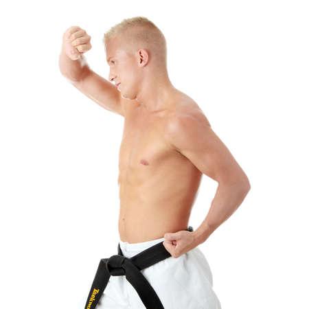 Taekwondo fighter isolated on white background Stock Photo - 5394123