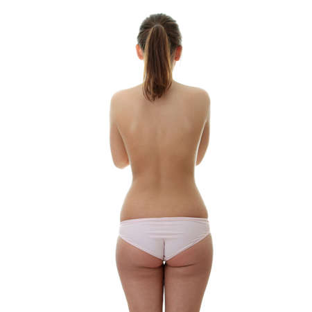 La chica con la espalda desnuda y el pelo largo Foto de archivo - 5931277