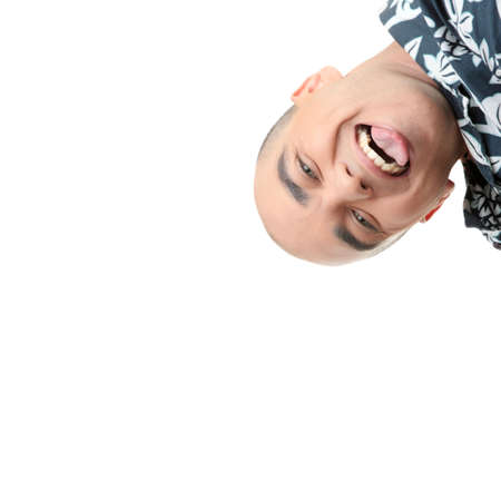 Man with happy facial expression isolated  photo