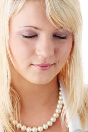 Emotional portrait of the beautiful young woman with tears on the face - emotional pain cocept Stock Photo - 6039992