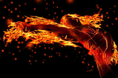 hell fire: Hot girl Stock Photo