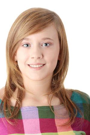 Teen girl isolated on white background Stock Photo - 6247360