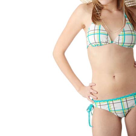 Summer girl isolated on white background Stock Photo - 6247369