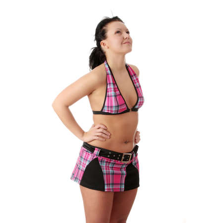 Sexy  overweight woman isolated Stock Photo - 6321275