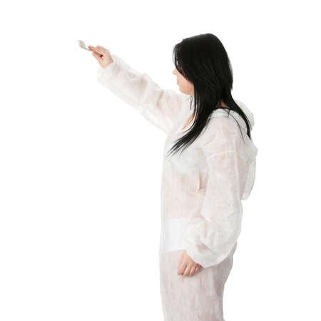beleibt: F�lligen weiblichen Maler - isoliert �ber white