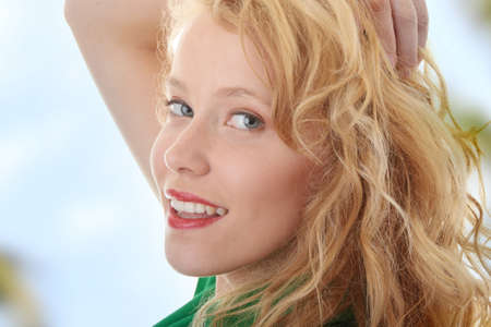 Beautiful Young Blond Smiling Woman Stock Photo - 6954765