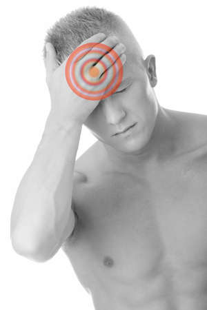 Men with headache or migraine isolated Stock Photo - 6931951