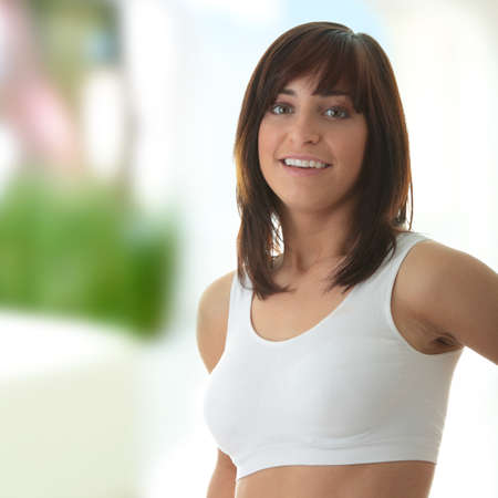 Slim Fitness Girl portrait photo