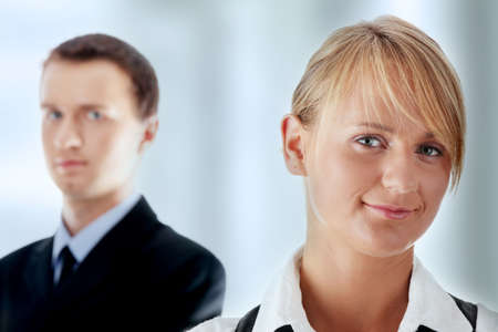 Young attractive business people isolated Stock Photo - 7816427