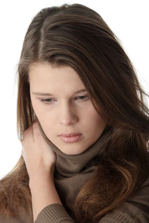Young caucasian woman with depression Stock Photo - 6956149