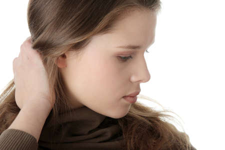 Young caucasian woman with depression Stock Photo - 6956124