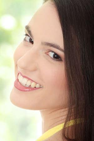 Beauty caucasian woman face  close up portrait Stock Photo - 7568685