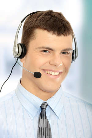 Charming customer service representative with headset on Stock Photo - 7503378