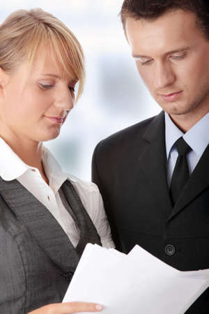 Young attractive business people Stock Photo - 7568746