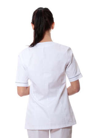 doctors and nurses: Medical doctor or nurse. Isolated over white background