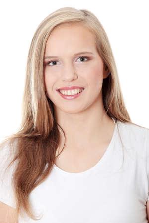 Teen girl isoalated on white background  Stock Photo - 8830617