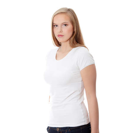 Teen girl isoalated on white background  Stock Photo - 8826377