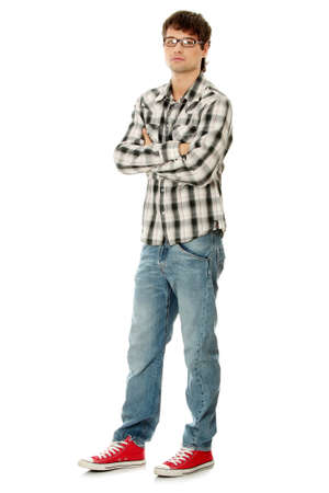Young handsome man,isolated on a white background Stock Photo - 8827414