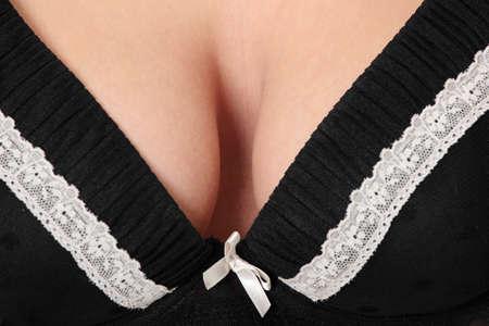 big breast: Woman big breast in bra