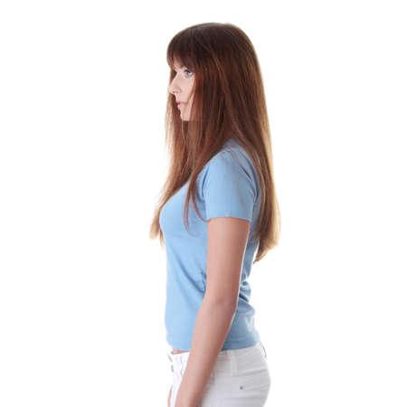 isoalated: Teen girl isoalated on white background
