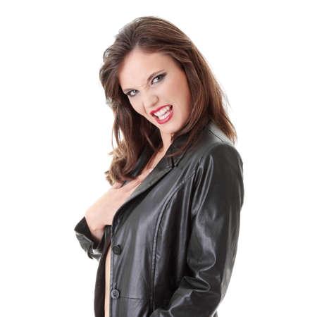Portrait of a female vampire  photo