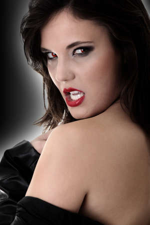 female vampire: Portrait of a female vampire