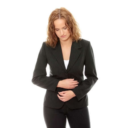 Young woman with stomach issues  Stock Photo - 9021477
