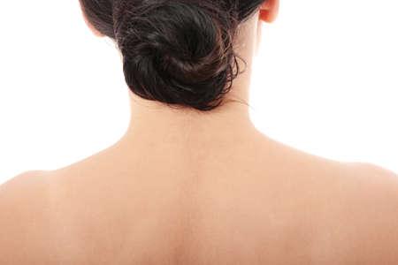 Close up photo of female neck photo