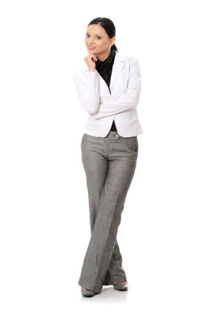 Portrait of beautiful caucasian business woman in suit Stock Photo - 24505352