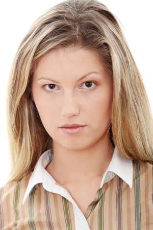 Young businesswoman portrait, isolated on white  Stock Photo - 9023672
