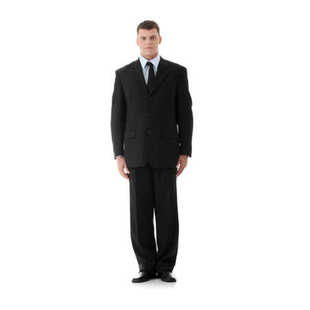 full suit: Full lenght portrait of businessman, isolated