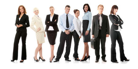 Business team isolated on white background photo
