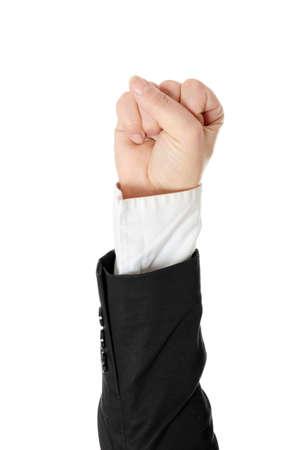 Fist isolated on white background photo