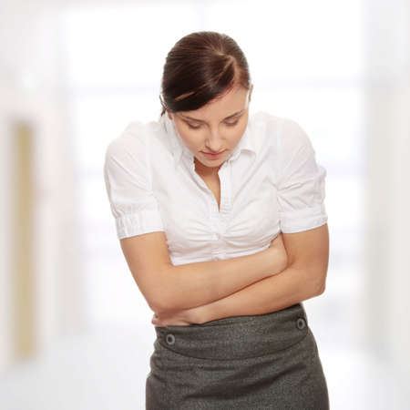 Woman with stomach issues  photo