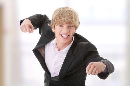 Frustrated young businessman photo