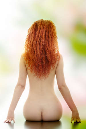 Beauty nude women back Stock Photo - 9027617