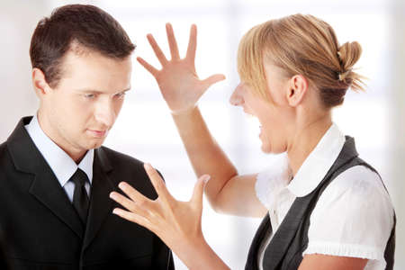 Work Colleagues arguing photo