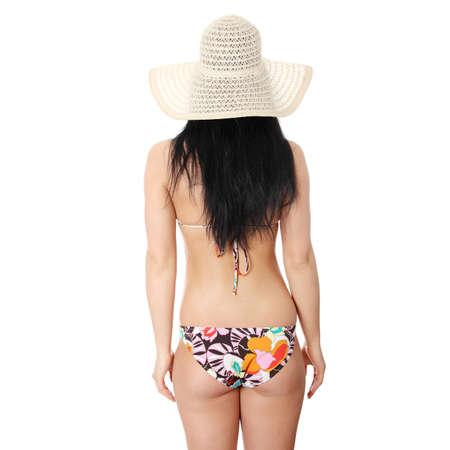 Sommer junge Frau im Bikini, isolated on white background  Standard-Bild - 9035490