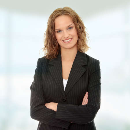 Young happy businesswoman photo