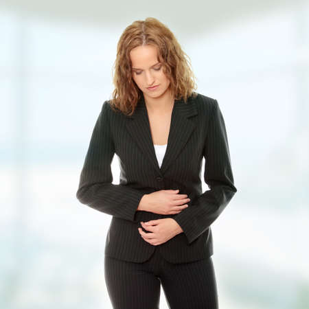 Young woman with stomach issues Stock Photo - 9035095