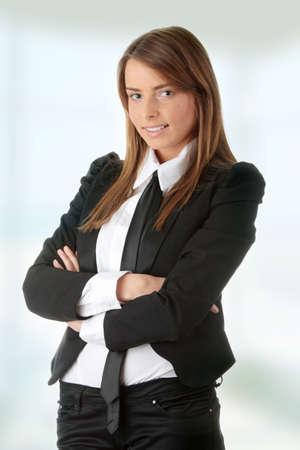 Young caucasian businesswoman photo